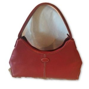 Tod's Red Leather Shoulder Bag Like New!